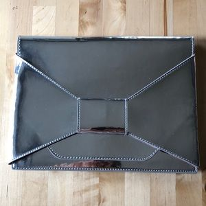 Metallic Envelope Clutch- Banana Republic